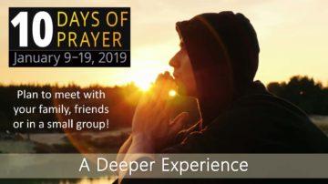 person praying outdoors
