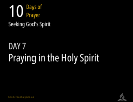 praying in the spirit title
