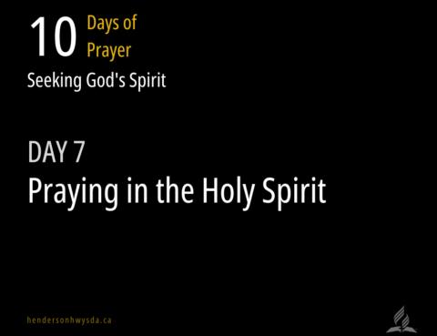 praying in the spirit title