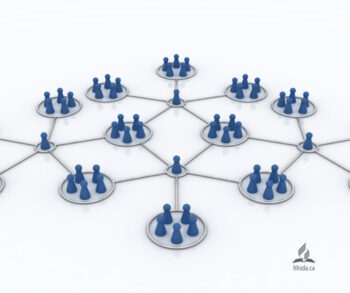 circles with people-shaped pawns